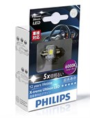 Philips LED Pinol pære C5W 30mm (Festoon) 6000K (1 stk)