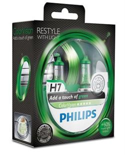 Philips Color Vision H7 Green (2 stk)