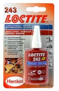 Loctite 243 skruesikring Medium (24ml)