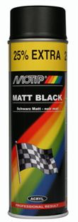 Motip Spraymaling Mat Sort (500ml)