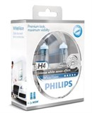 Philips H4 White Vision Incl W5W (2+2 stk)