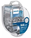 Philips H4 White Vision Ultra Inkl. W5W (2+2 stk)